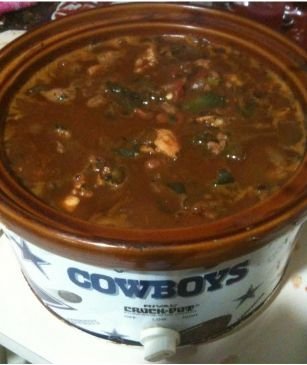 Spicy 2 Meat Crockpot Chili