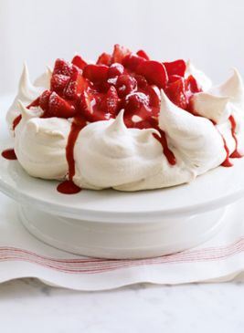 Delia's Strawberry and vanilla pavlova