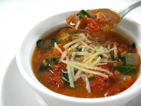 Creamy Tomato Soup Florentine