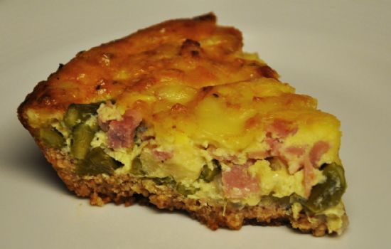 Quiche With Almond Parmesan Crust