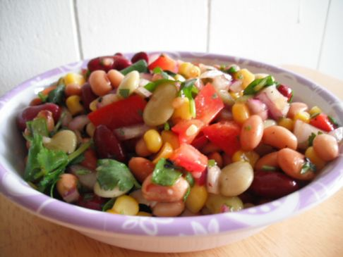 Easy Bean Salad with Cilantro and Lime