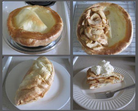 German Apple Pancake No Added Sugar Egg Whites Only Recipe Sparkrecipes