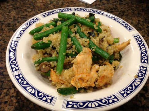 Quinoa with Paprika Chicken and Green Beans