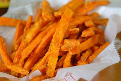 Garlic Rosemary Sweet Potato Fries