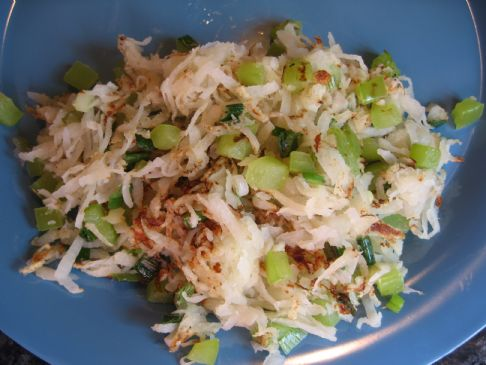 Jicama Hashed Browns