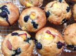 Peach and Blueberry Muffins (Vegan)