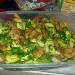 Honey Sesame Shrimp w/ Brussels Sprouts Stir Fry