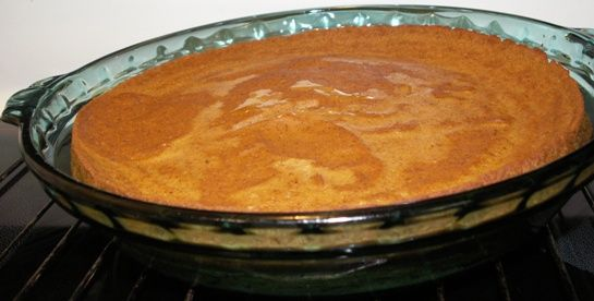 Self-Crust Pumpkin Pie