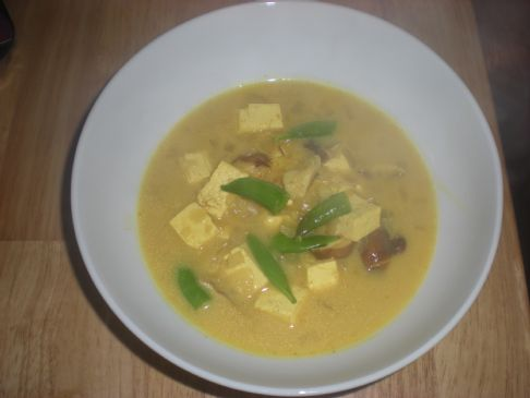 Coconut Curry Soup with Tofu
