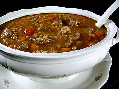 Beef and Barley Amish Stew Recipe | SparkRecipes