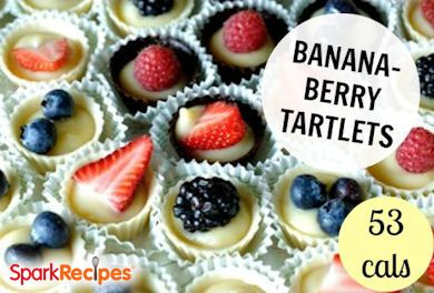 Berry Banana Frozen Tartlets