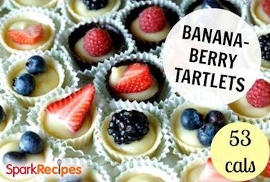 Berry Banana Frozen Tartlets