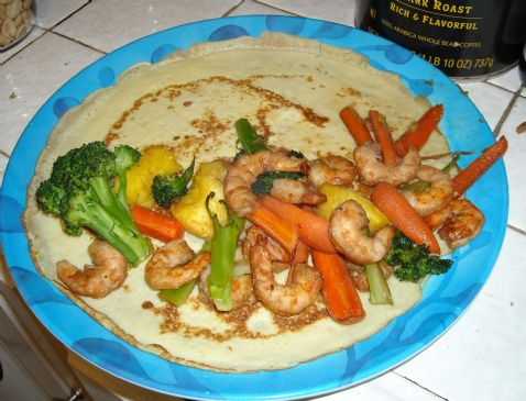 Shrimp and Pineapple Crepes