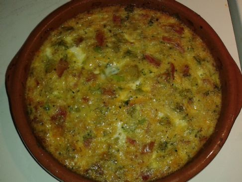 Quiche Broccoli, Cheese, Ham & Prosciutto