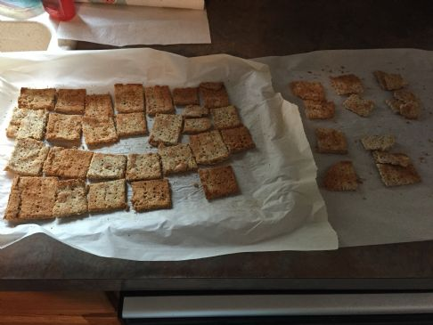 almond crackers - make from moist ground almonds