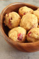 Bulked Up Strawberries & Cream Mini Muffins