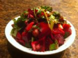 Beet Spinach Salad and Poppy Seed Vinaigrette