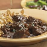 Braised Beef Cubes in Gravy