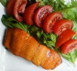 Baked Salmon with side salad