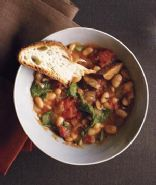 Slow-Cooker White Bean and Kielbasa Stew