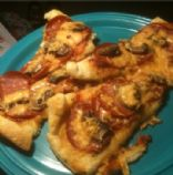 Crescent Roll Pizza with Pepperoni and Mushroom