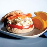 Egg White and Smoked Salmon Sandwich