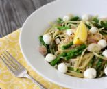 Linguini with Lemon Roasted Asparagus