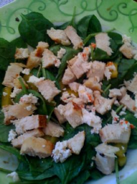 Spicy Chicken Spinach Salad