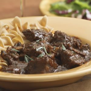 Braised Beef Cubes In Gravy Recipe Sparkrecipes