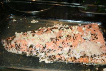 Baked Garlic Lemon Salmon