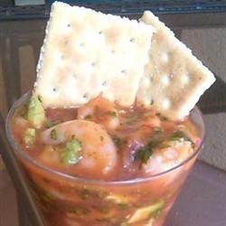 Mexican Shrimp Cocktail Soup
