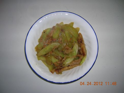 Stir Fry Cucumber with Dried Shrimps