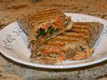 Salmon Hummus Wrap