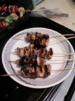 Carribean Jerk Chicken thigh skewers
