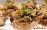 Vegan Sausage Stuffed Portabella Mushrooms