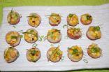 Mini Stuffed Potatoes with Charred Corn and Red Pepper Hummus