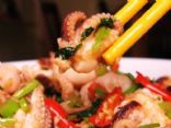 Spicy Stir Fried Octopus w/ Vegetables