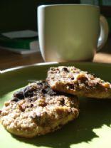 Cashew Almond Chip Cookies & Milk