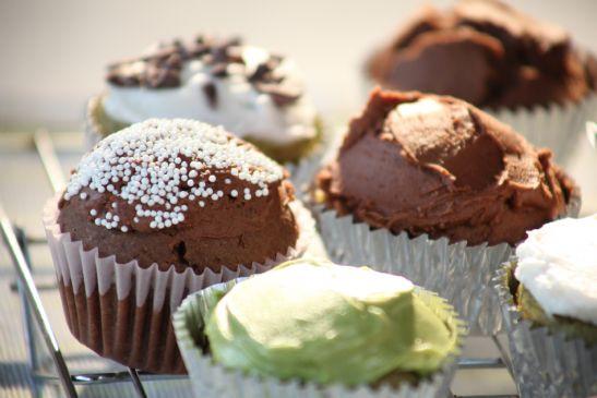 Vegan Gluten-free Sugar-free Chocolate Cupcakes