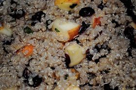 Breakfast Quinoa, Apples, Walnuts, and Cranberries