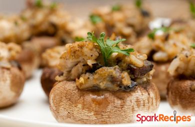 Vegan Sausage Stuffed Portabella Mushrooms