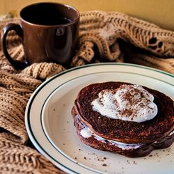 Bulked Up Mocha Pancakes
