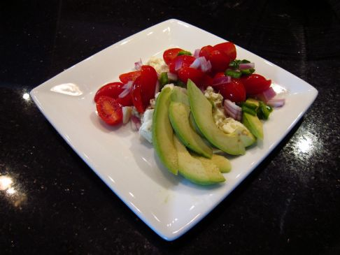 Egg Whites and Fresh Cherry Tomato Salsa
