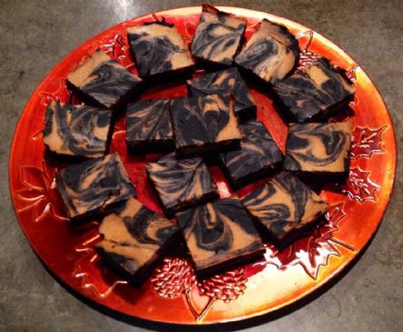 Pumpkin Swirl Black Bean Brownies