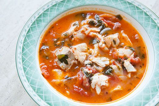 Fish Stew with Leeks and Mushrooms