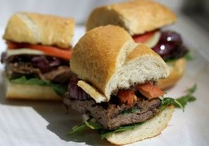 Marinated Skirt Steak Sandwich