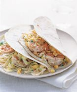 Shrimp Tacos With Citrus Cabbage Slaw