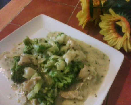 Baked Pollock with Broccoli and Cheese Sauce