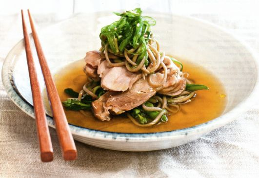 Chicken & Sesame Noodles in Ginger Broth