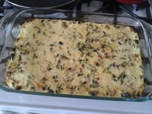 Veggie and sausage breakfast casserole (6 servings)